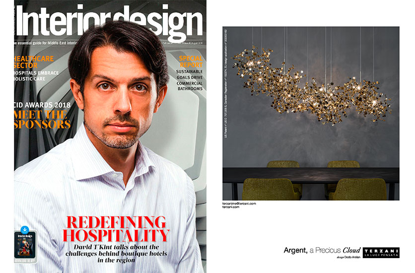 Argent Featured In Interior Design Middle East August Issue Press Terzani
