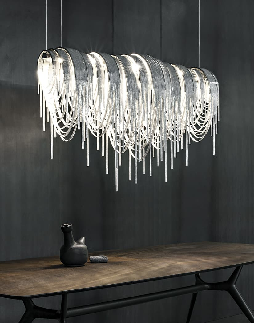 crystal bubble chandeliers lighting stairway stairwell designer modern large pendant chandelier ball lights led long