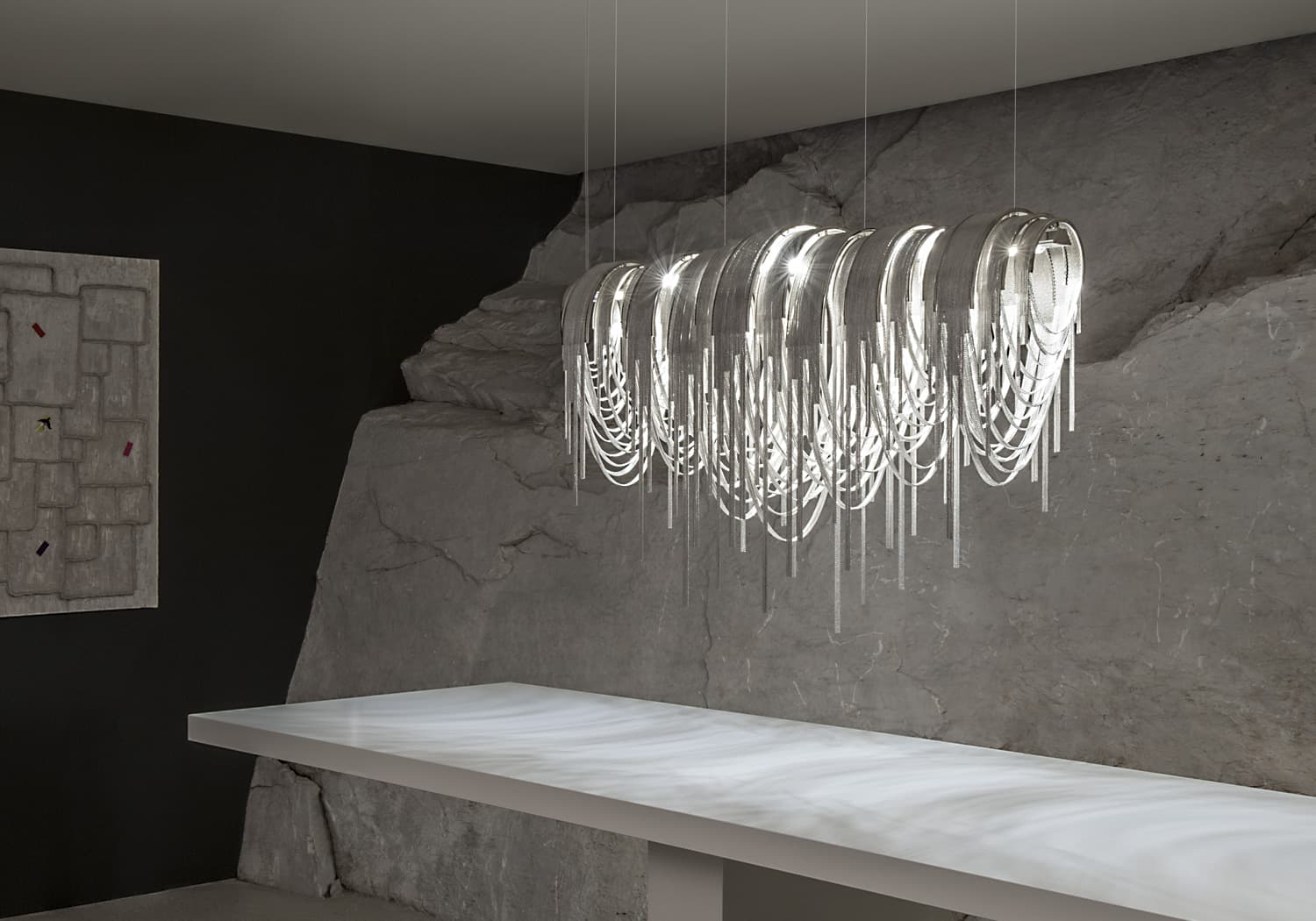Terzani for Luminaire suspension blanc